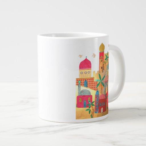 Jerusalem City Colorful Art Extra Large Mugs