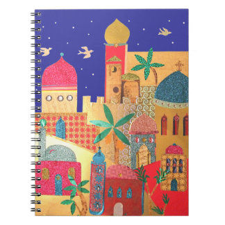 Jerusalem City Colorful Art Spiral Notebook