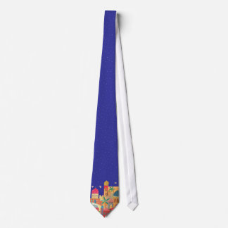 Jerusalem City Colorful Art Tie