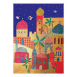 Jerusalem City Colourful Art Poster