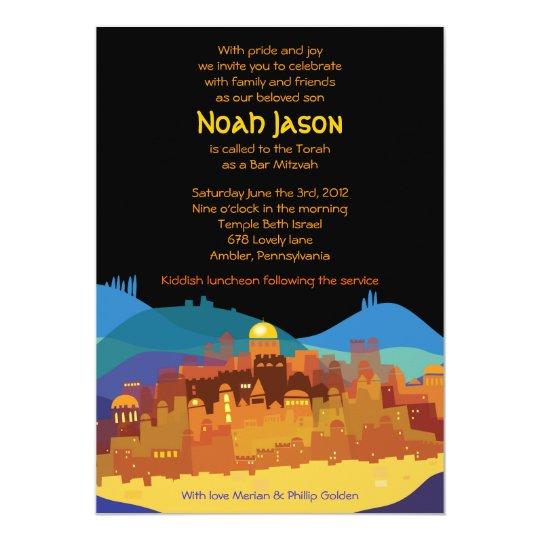 JERUSALEM CITY of GOLD Bar Bat Mitzvah Invitation