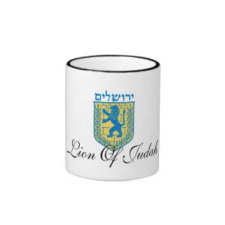 Jerusalem Coat Of Arms Mug. Ringer Mug