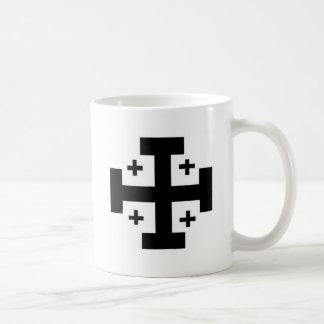 Jerusalem Cross Basic White Mug