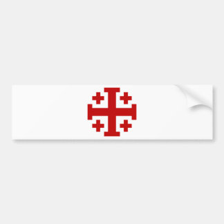 Jerusalem Cross Bumper Sticker