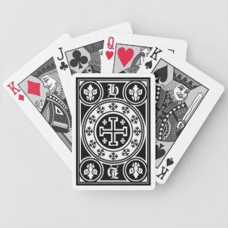 Jerusalem cross deck bicycle playing cards