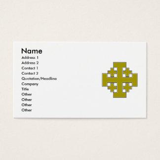 Jerusalem Cross Gold Business Card