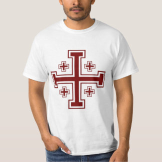 Jerusalem cross Papal Crusader T-Shirt
