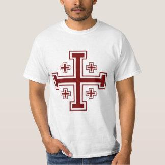 Jerusalem cross Papal Crusader T-Shirt