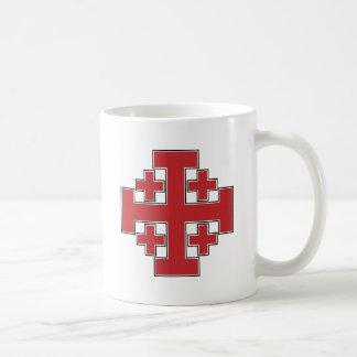 Jerusalem Cross Red Basic White Mug