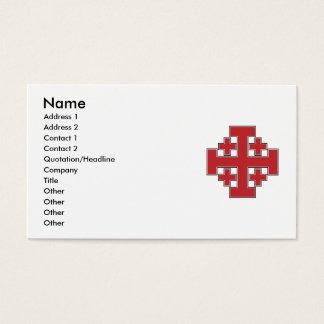 Jerusalem Cross Red Business Card