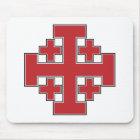 Jerusalem Cross Red Mouse Mat