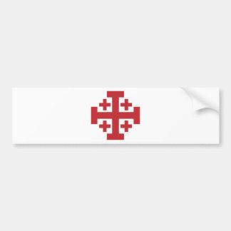 Jerusalem Cross simple red Bumper Sticker
