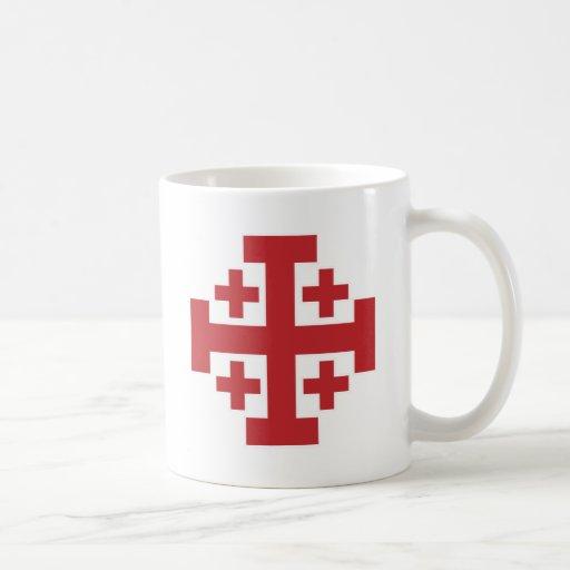 Jerusalem Cross simple red Mugs