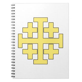 Jerusalem Cross Spiral Notebook