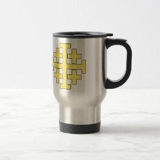Jerusalem Cross Stainless Steel Travel Mug