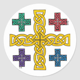 Jerusalem Cross stickers