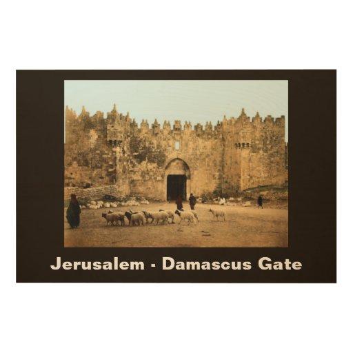 Jerusalem - Damascus Gate Wood Print