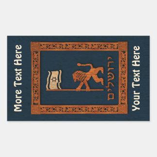 Jerusalem Day Lion With Flag Rectangular Sticker