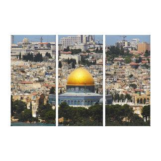 Jerusalem Dome of the Rock Cityscape Canvas Print
