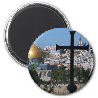 Jerusalem for Christians 6 Cm Round Magnet