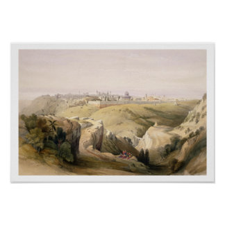 Jerusalem from the Mount of Olives, April 8th 1839 Poster