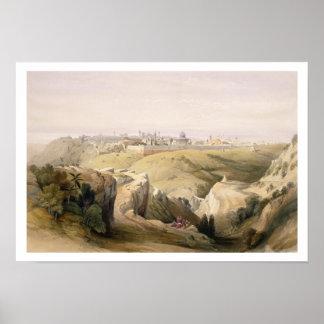 Jerusalem from the Mount of Olives, April 8th 1839 Poster