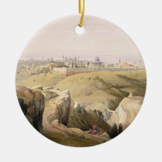 Jerusalem from the Mount of Olives, April 8th 1839 Round Ceramic Decoration