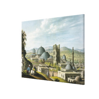 Jerusalem from the West, pub. by William Watts, 18 Canvas Print