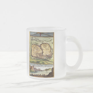 Jerusalem Frosted Glass Mug