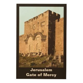 Jerusalem - Gate of Mercy Wood Prints
