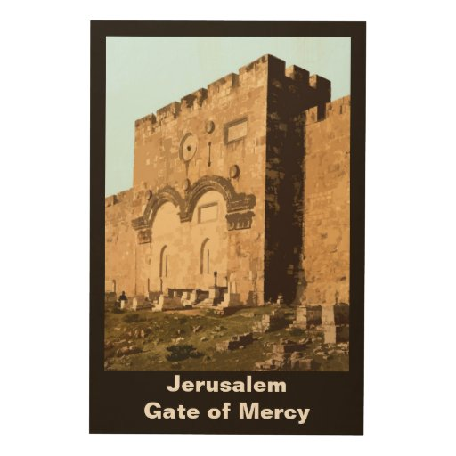 Jerusalem - Gate of Mercy Wood Canvases