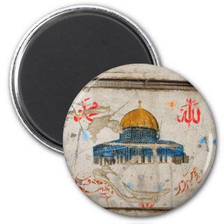 Jerusalem Graffiti 6 Cm Round Magnet