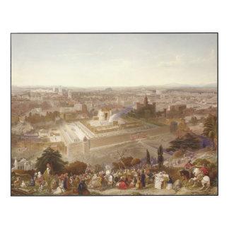Jerusalem in her Grandeur, engraved by Charles Mot