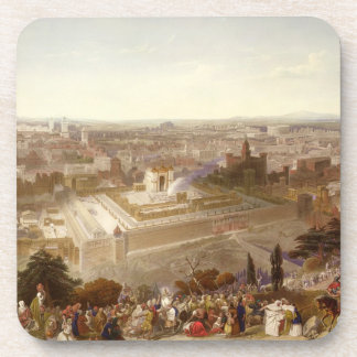 Jerusalem in her Grandeur, engraved by Charles Mot Beverage Coasters
