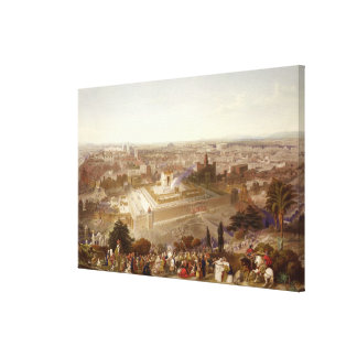 Jerusalem in her Grandeur, engraved by Charles Mot Canvas Print
