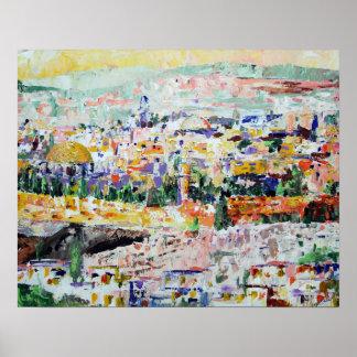 Jerusalem Israel Impressionistic Painting Poster