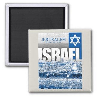 Jerusalem, Israel Square Magnet