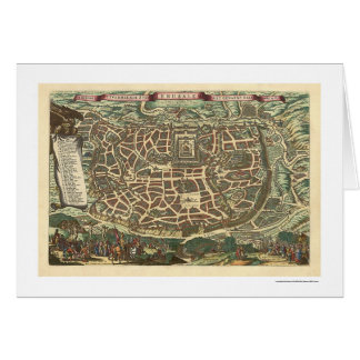 Jerusalem Israel Map 1660 Card