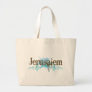 Jerusalem Israel T-shirt Large Tote Bag