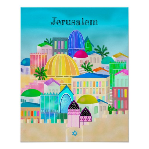 Jerusalem Israel Travel Poster