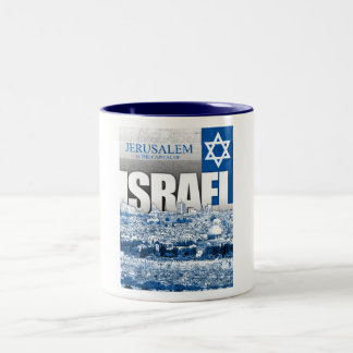 Jerusalem, Israel Two-Tone Coffee Mug