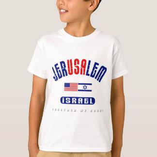 "Jerusalem  (Jer""USA""lem) USA - Israel T-Shirt"