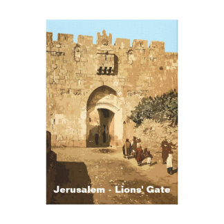 Jerusalem - Lions Gate Stretched Canvas Prints