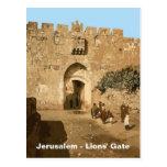 Jerusalem - Lions' Gate Postcard