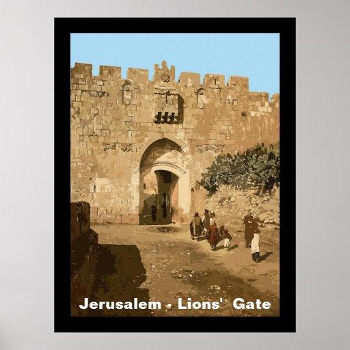 Jerusalem - Lions' Gate Poster