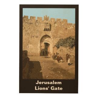 Jerusalem - Lions' Gate Wood Canvases