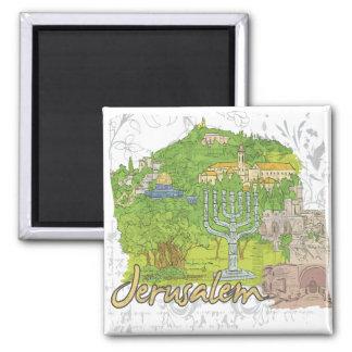 Jerusalem Square Magnet