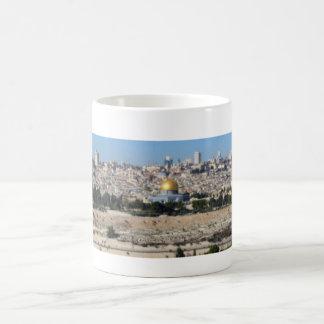 Jerusalem Panorama From Mount of Olives Basic White Mug