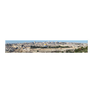 Jerusalem Panorama From Mount of Olives Gallery Wrapped Canvas