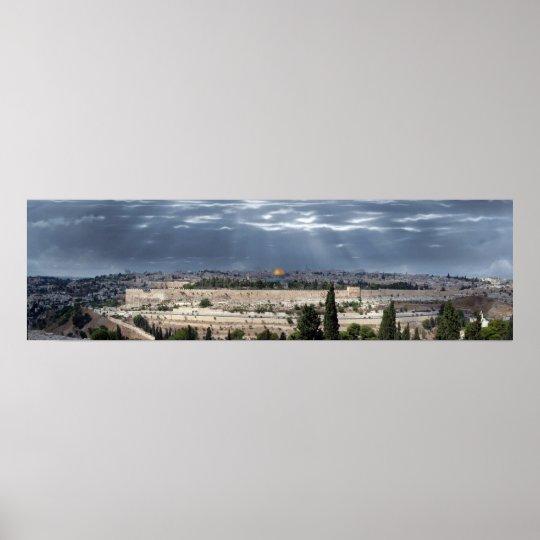 Jerusalem Panorama Tempestade Poster